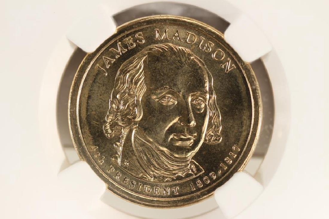2007-D JAMES MADISON DOLLAR NGC BRILLIANT UNC