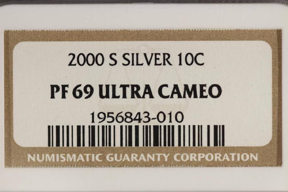 2000-S SILVER ROOSEVELT DIME NGC PF69 ULTRA CAMEO - 3