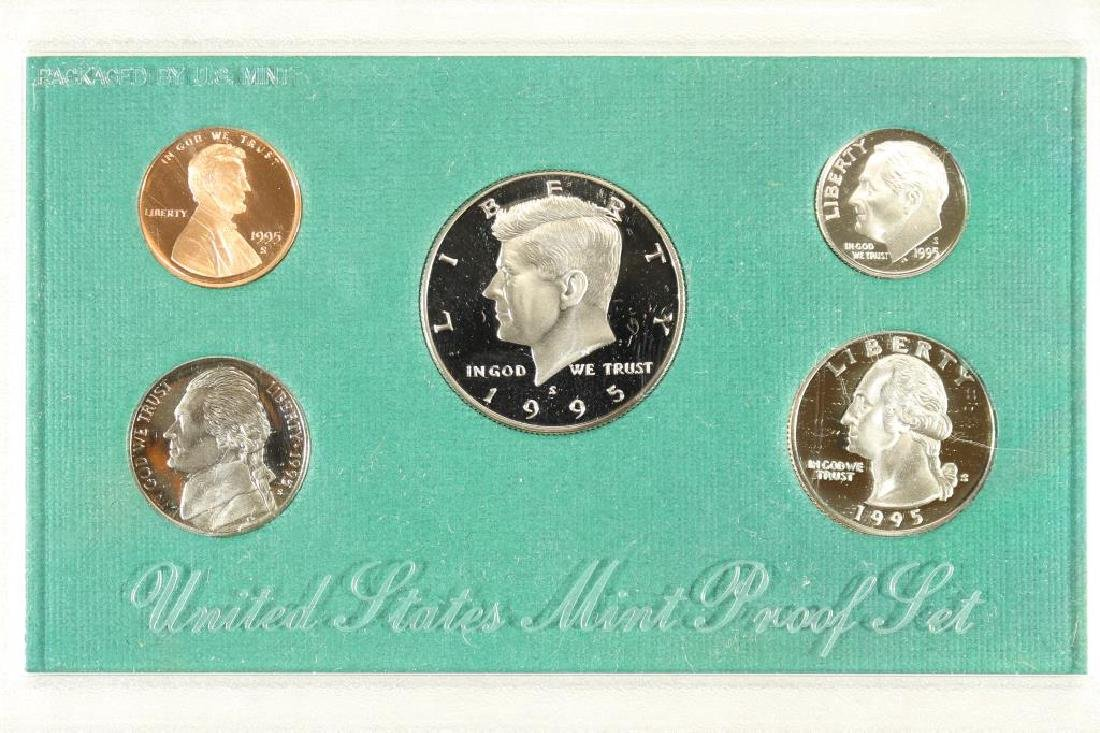 1995 US PROOF SET (WITH NO BOX)