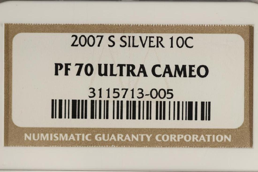 2007-S SILVER ROOSEVELT DIME NGC PF70 ULTRA CAMEO - 3