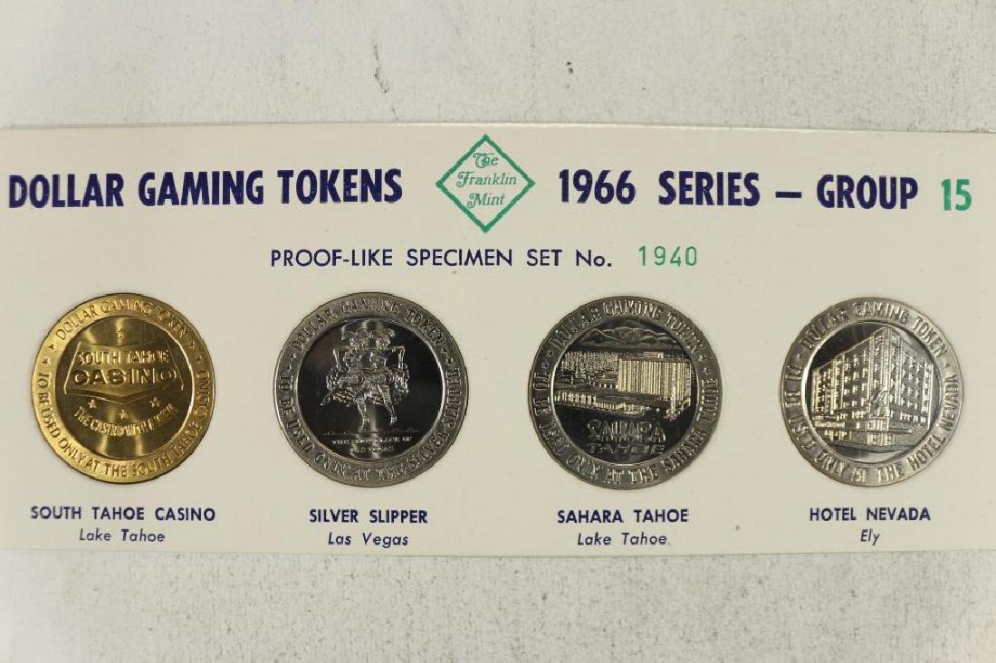 4-$1 GAMING TOKENS 1966 SERIES GROUP 15