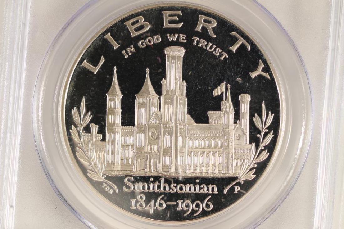 1996-P SMITHSONIAN COMMEMORATIVE SILVER DOLLAR - 2