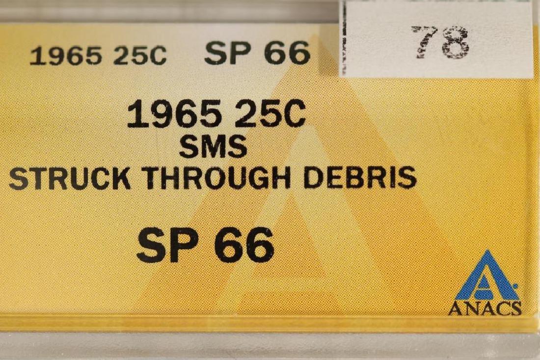 ERROR 1965 SMS WASHINGTON QUARTER STRUCK - 3