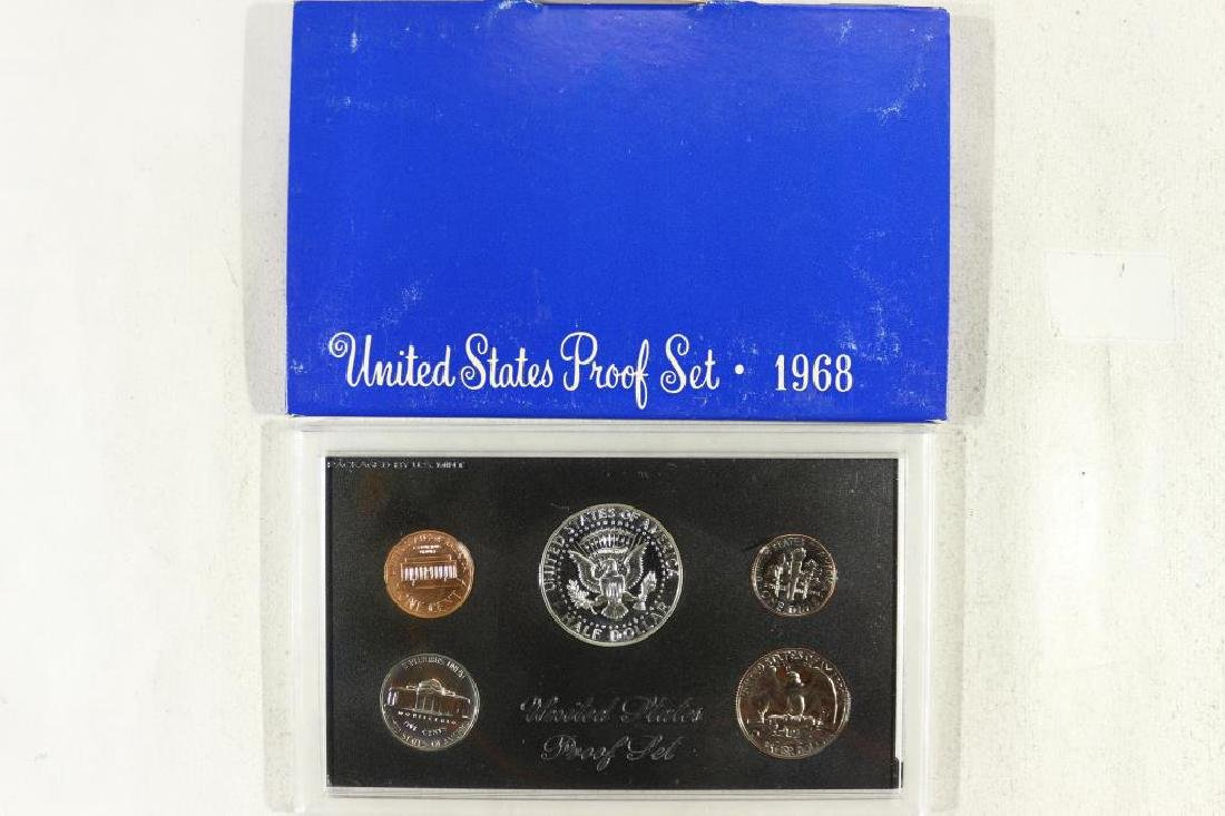 1968 US PROOF SET WITH BOX, 40% SILVER JFK HALF - 2