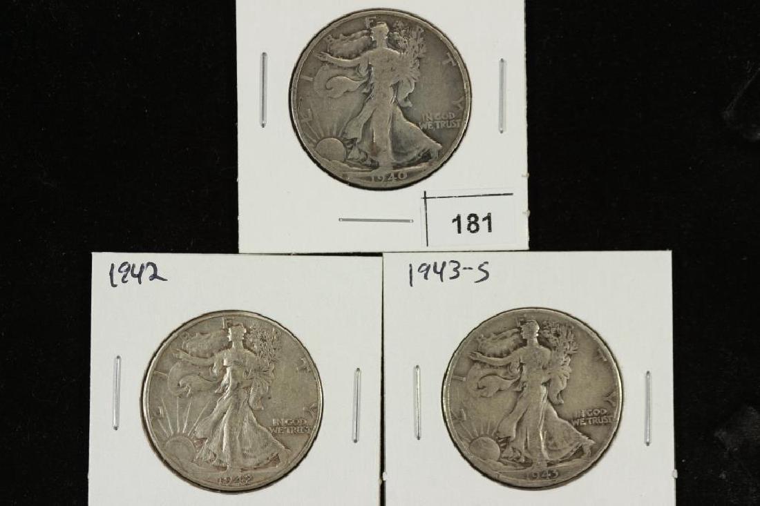 1940-S,42 & 43-S WALKING LIBERTY HALF DOLLARS