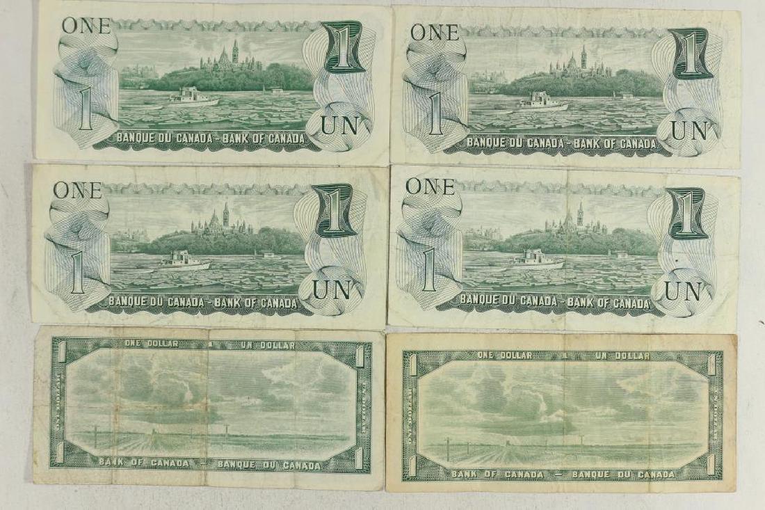 2-1954 & 4-1973 CANADA $1 BILLS - 2