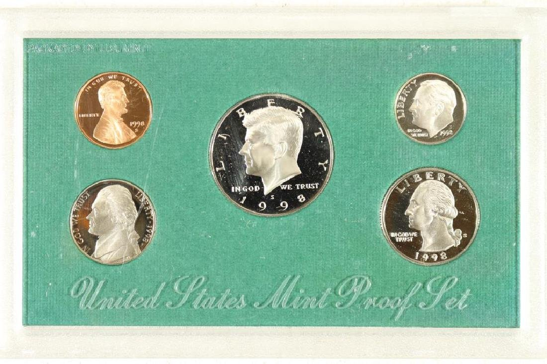 1998 US PROOF SET (WITH NO BOX)