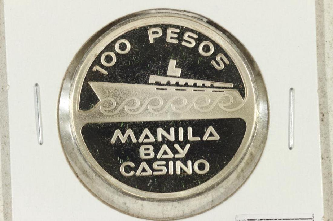 MANILA BAY CASINO 100 PESOS SILVER PROOF