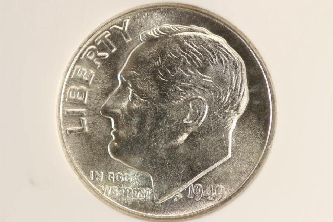 1949 SILVER ROOSEVELT DIME NGC MS66