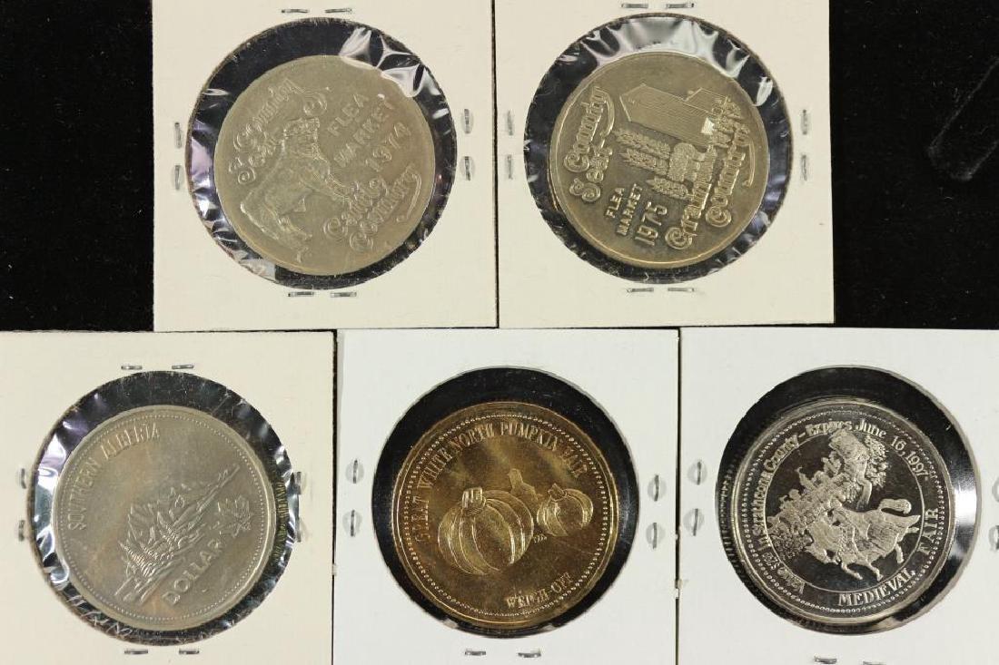 5 ASSORTED CANADA TRADE DOLLARS SEE DESCRIPTION - 2