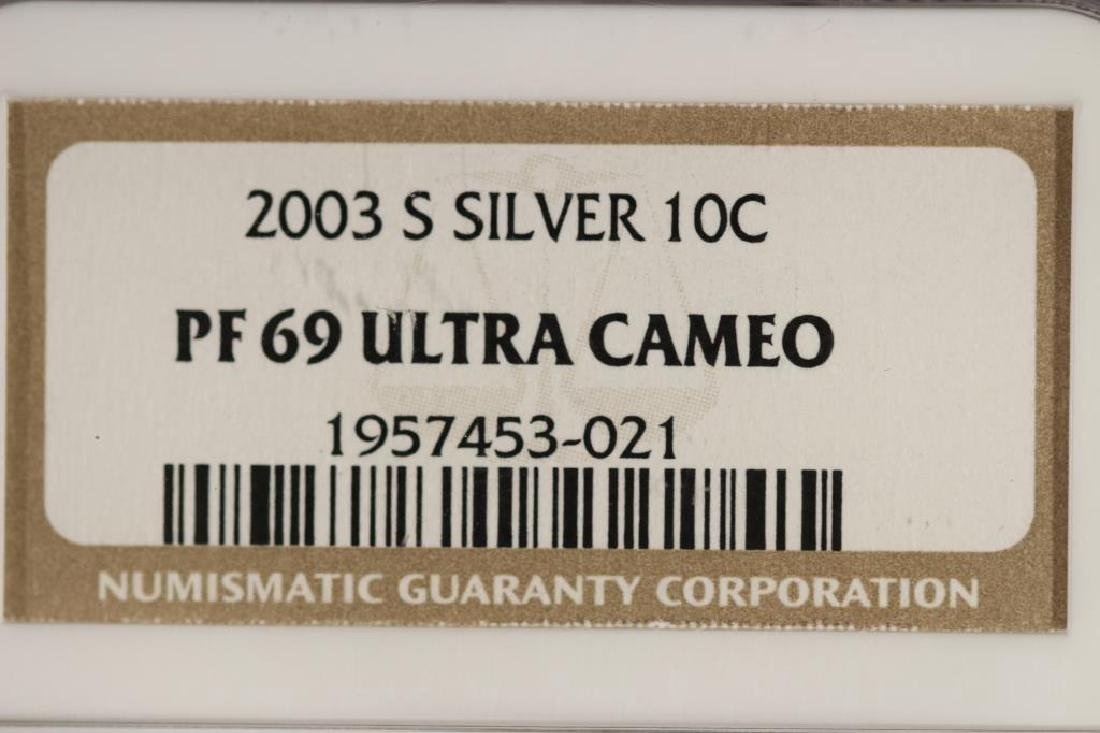 2003-S SILVER ROOSEVELT DIME NGC PF69 ULTRA CAMEO - 3