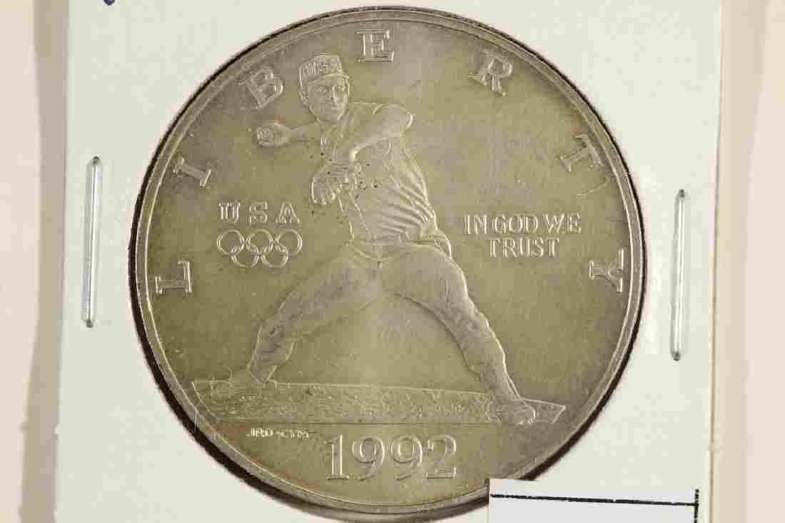 1992-D US OLYMPICS COMMEMORATIVE UNC SILVER DOLLAR