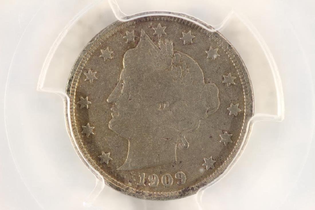 "1909 LIBERTY ""V"" NICKEL PCGS (FINE) DETAILS"