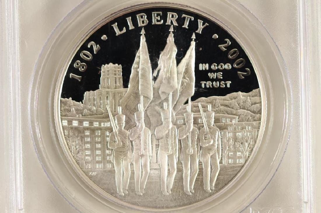 2002-W WEST POINT BICENTENNIAL SILVER DOLLAR PCGS