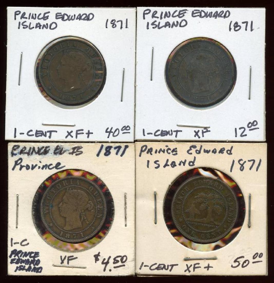 4 Prince Edward Island Canada 1871 Bronze Cents