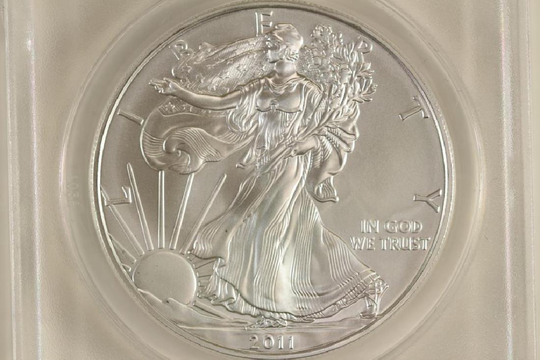 2011 (S) AMERICAN SILVER EAGLE ANACS MS69