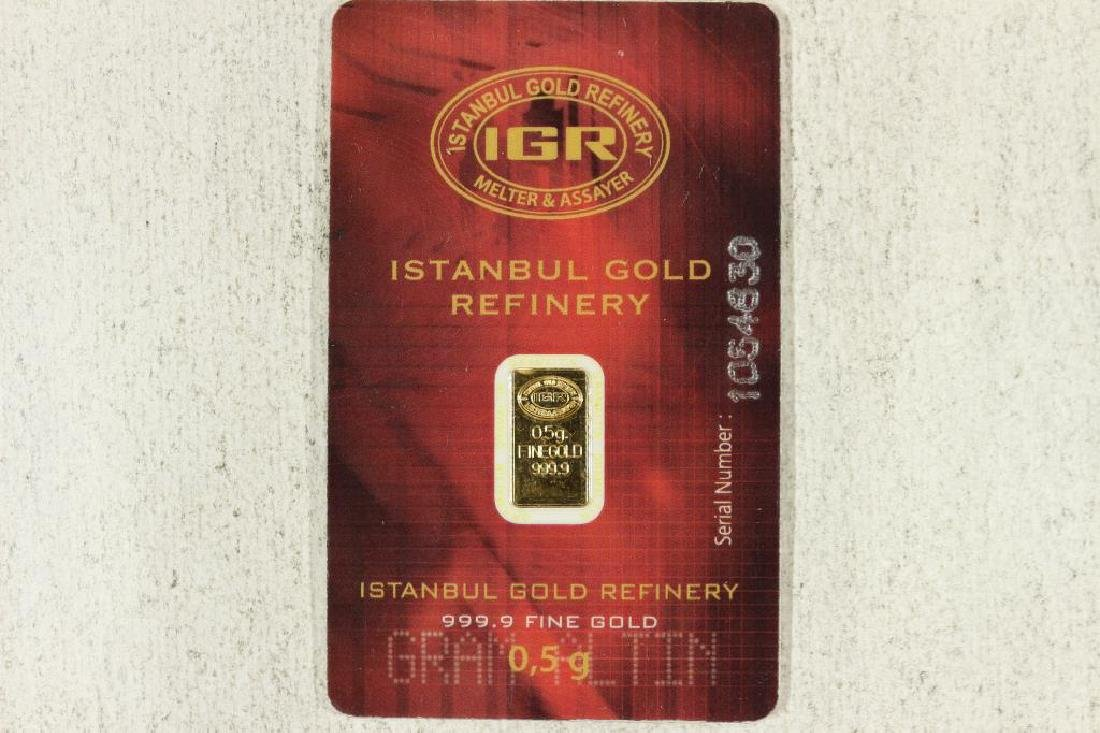 1/2 GRAM 999.9 FINEGOLD INGOT BY THE ISTANBUL