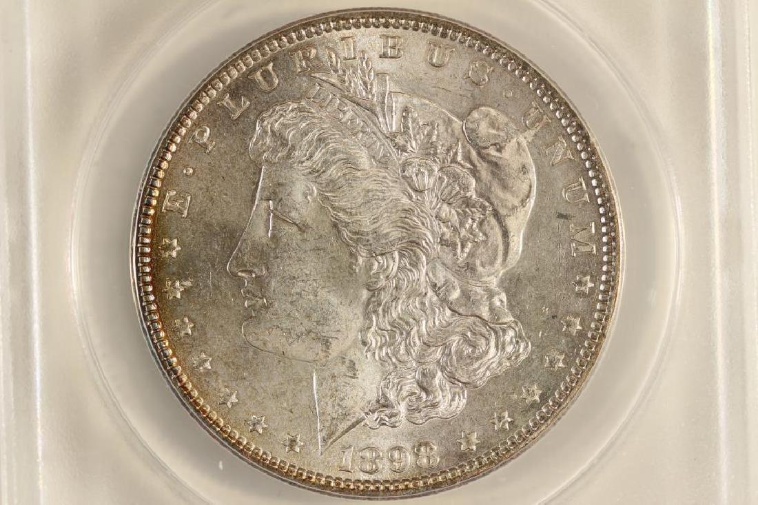 1898 MORGAN SILVER DOLLAR ANACS MS61