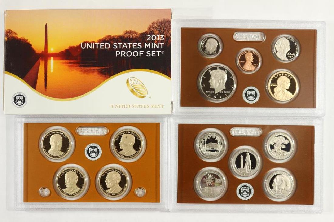 2013 US PROOF SET (WITH BOX) 14 PIECES