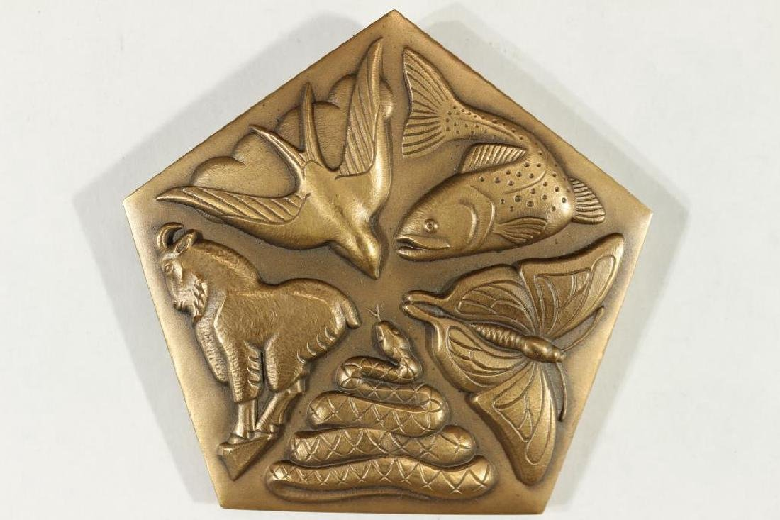 """1967 2 3/4"""" BRONZE MEDAL THOREAU """"IN WILDNESS"""