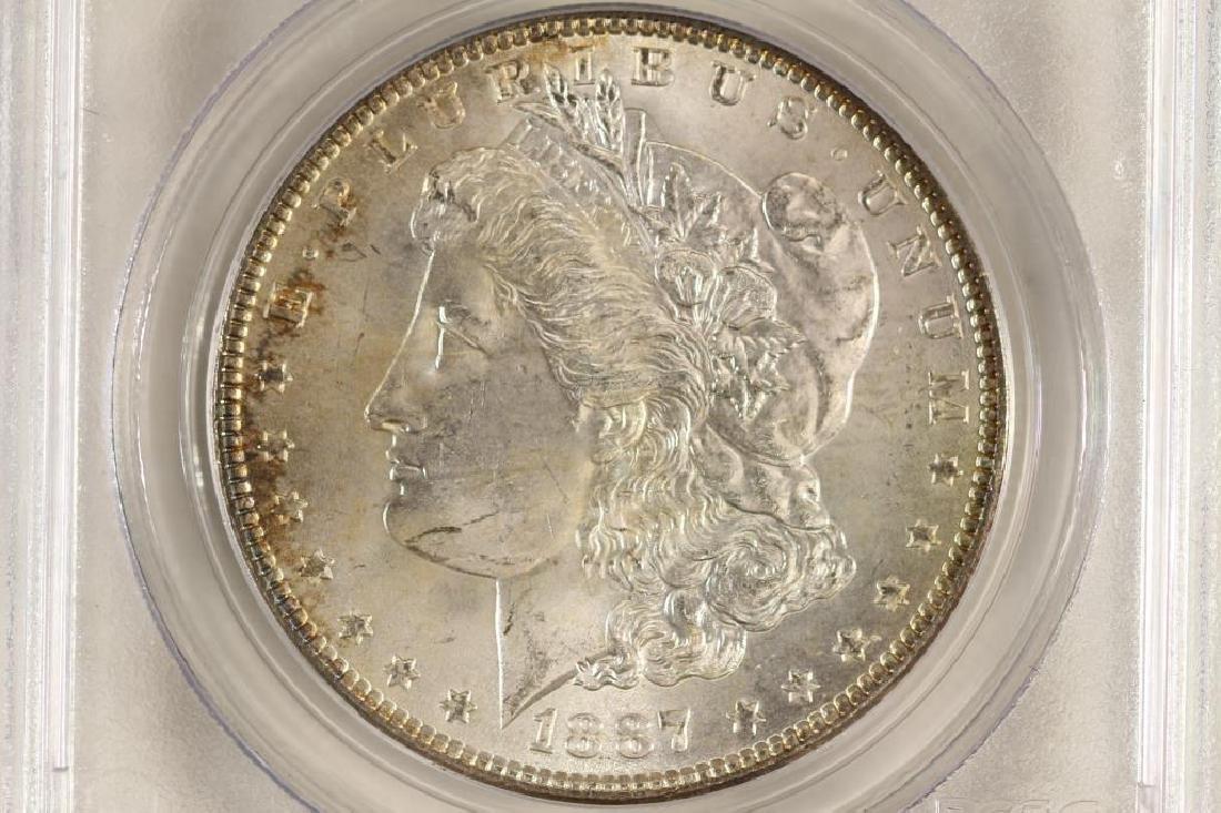 1887 MORGAN SILVER DOLLAR PCGS MS64