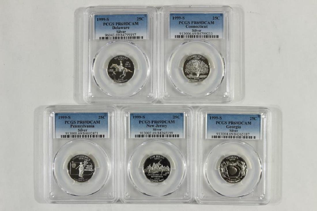 1999-S SILVER 50 STATE QUARTERS PROOF SET