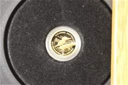 GOLD 2012 AUSTRALIA 1/25TH OZ. GOLD PROOF COIN