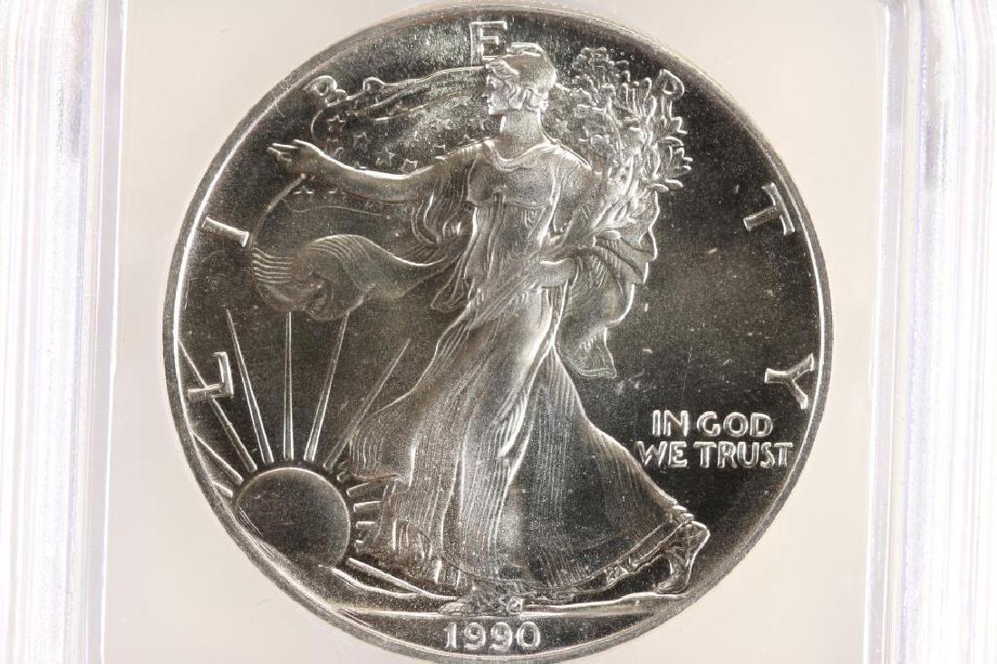 1990 AMERICAN SILVER EAGLE ICG MS69