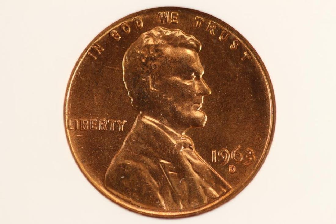 ERROR 1963-D LINCOLN CENT DDO FS-025.8 DIE 1