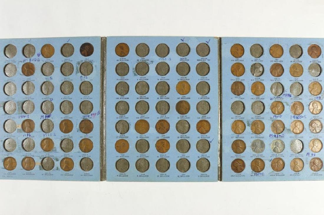 2 PARTIAL LINCOLN CENT ALBUMS 1909-1945 (45 COINS)