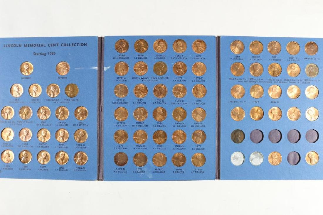 2 PARTIAL LINCOLN CENT ALBUMS 1909-1945 (45 COINS) - 2