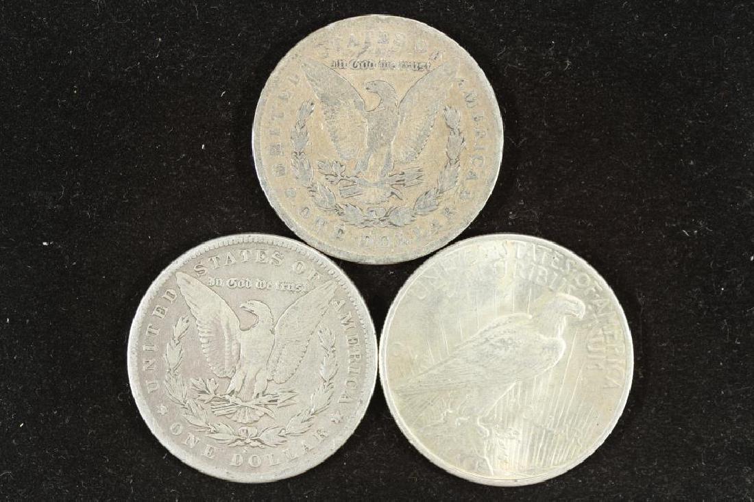1878-S, 1882-S MORGAN & 1925 PEACE SILVER DOLLARS - 2