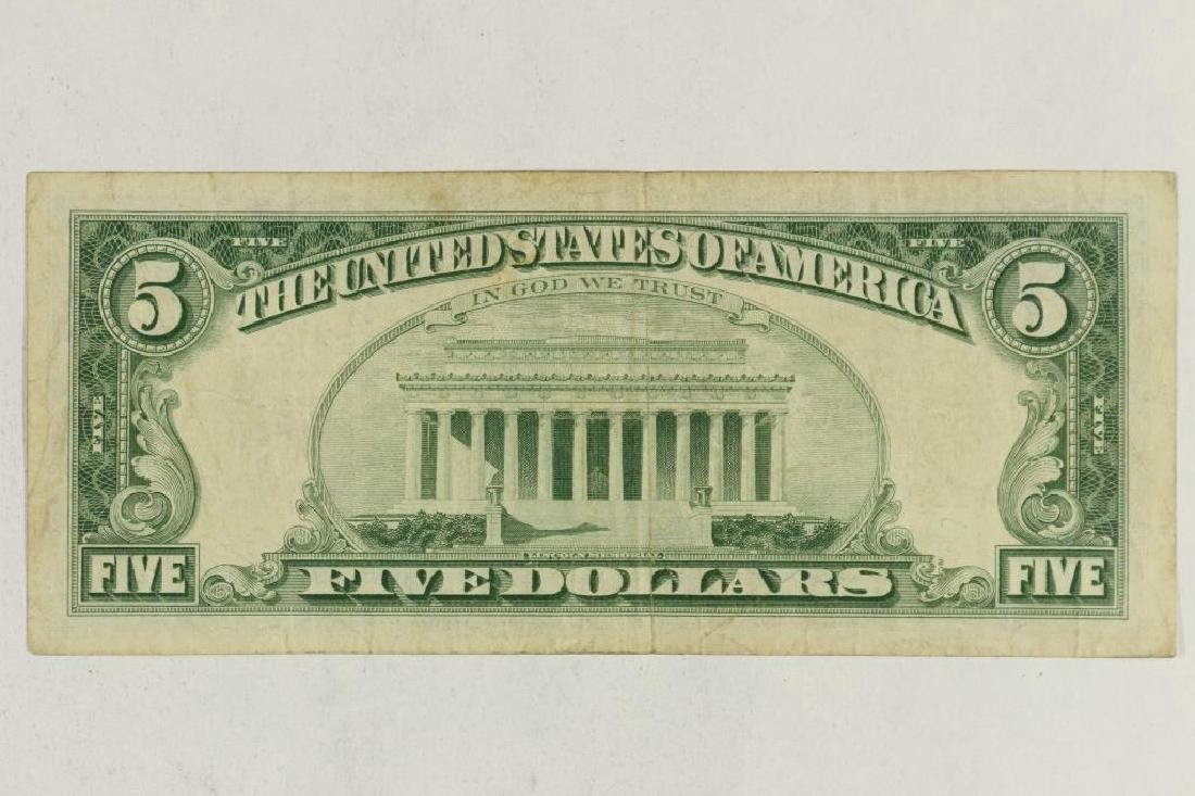 1963 $5 US NOTE RED SEAL - 2