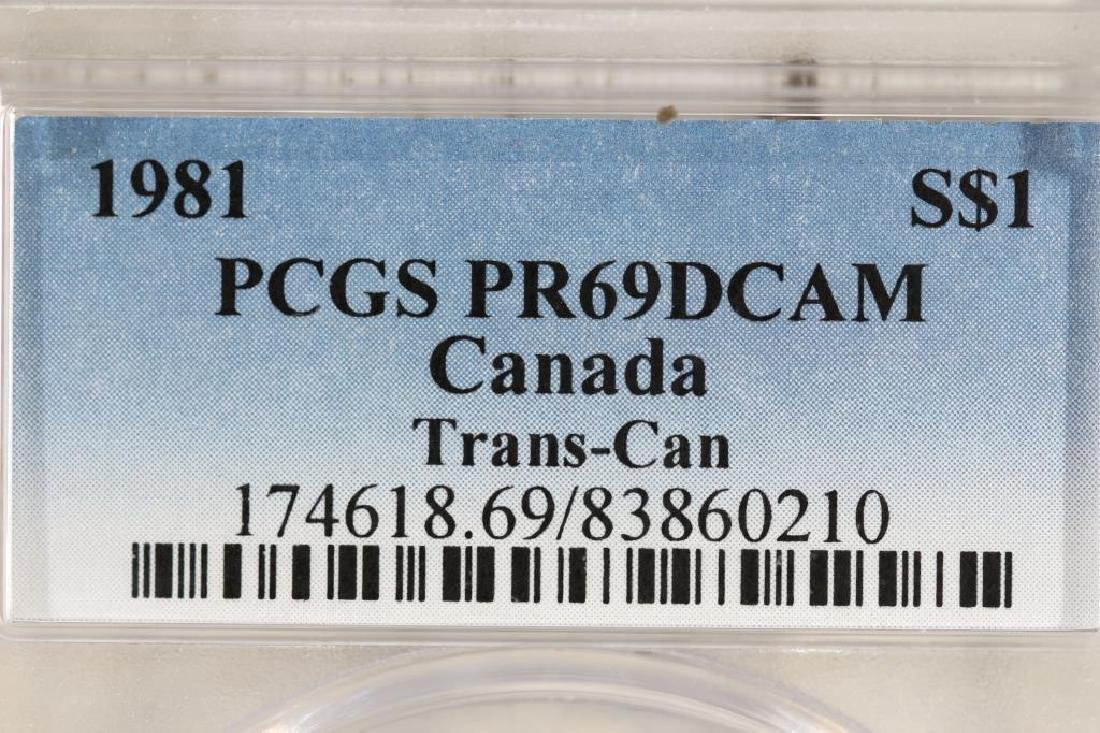 1981 CANADA TRANS-CAN SILVER DOLLAR PCGS PR69 DCAM - 3