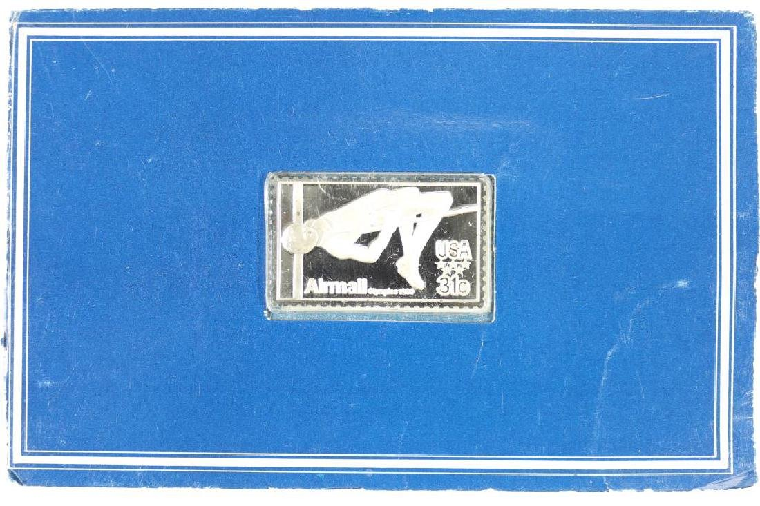 STERLING SILVER PROOF OF 1980 OLYMPIC STAMP