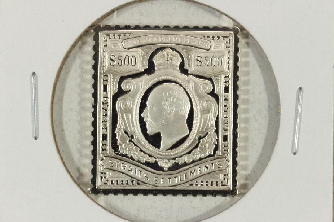 14.1 GRAM STERLING SILVER INGOT COPY 1910 STRAITS