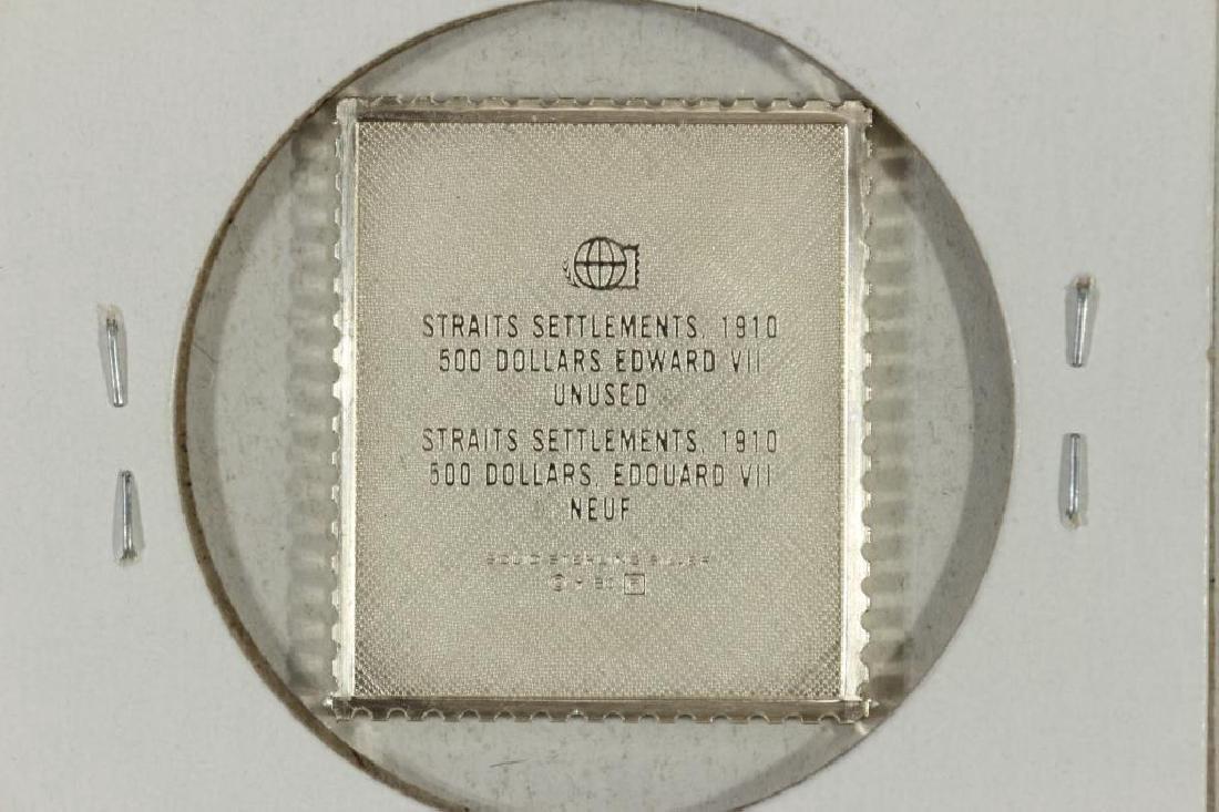 14.1 GRAM STERLING SILVER INGOT COPY 1910 STRAITS - 2