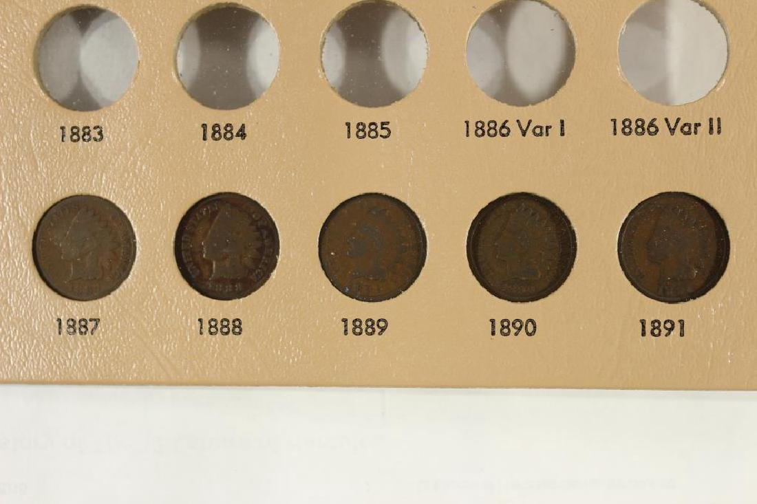 PARTIAL INDIAN HEAD CENT ALBUM 21 COINS COMPLETE
