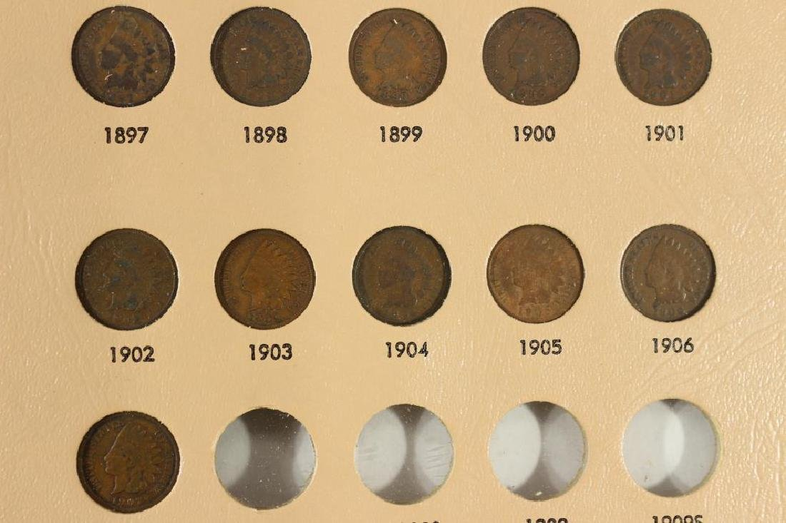 PARTIAL INDIAN HEAD CENT ALBUM 21 COINS COMPLETE - 3
