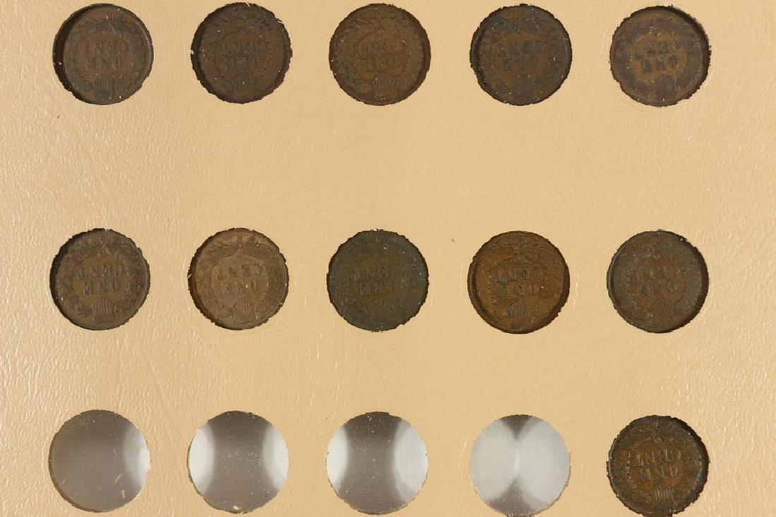 PARTIAL INDIAN HEAD CENT ALBUM 21 COINS COMPLETE - 4