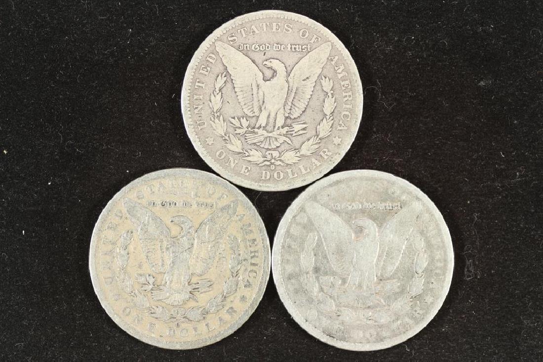 1884-O, 1889-O & 1891 MORGAN SILVER DOLLARS - 2