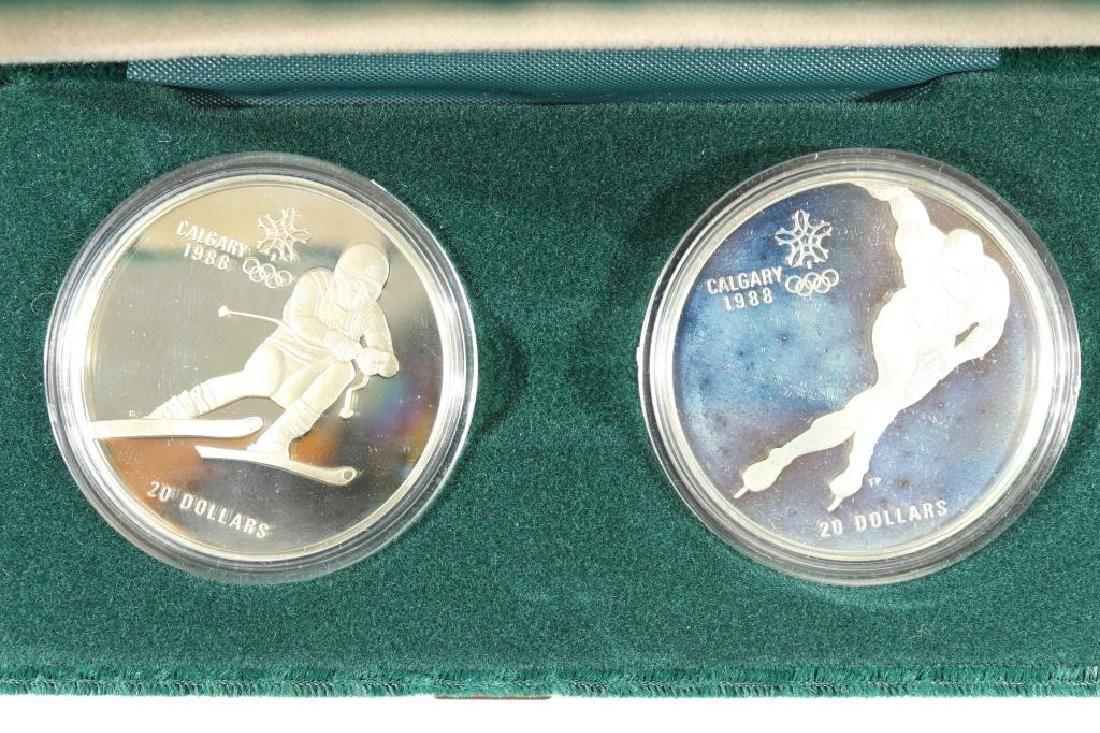 1985 CANADA $20 SILVER PROOF 2 COIN SET XV WINTER