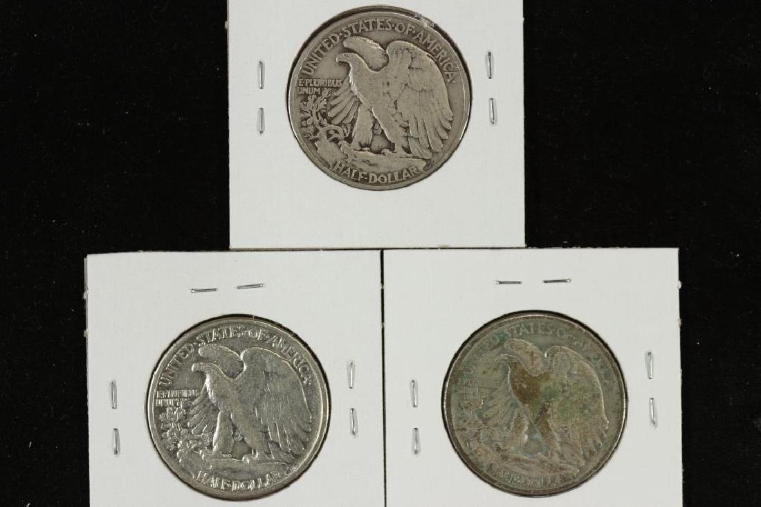 1940,42 & 1943 WALKING LIBERTY HALF DOLLARS - 2