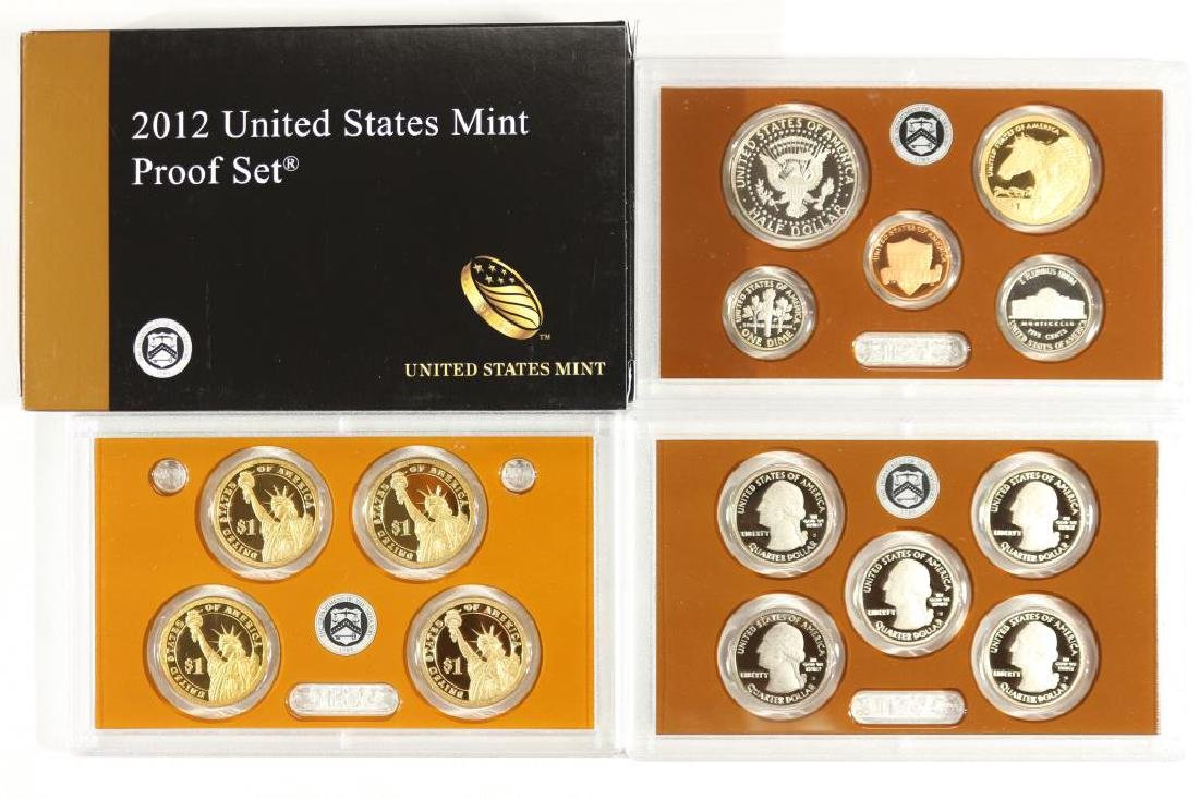 2012 US PROOF SET (WITH BOX) 14 PIECES, WITH BOX - 2