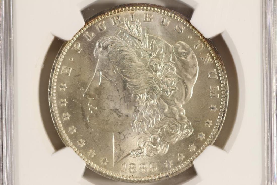 1885-O MORGAN SILVER DOLLAR NGC MS64
