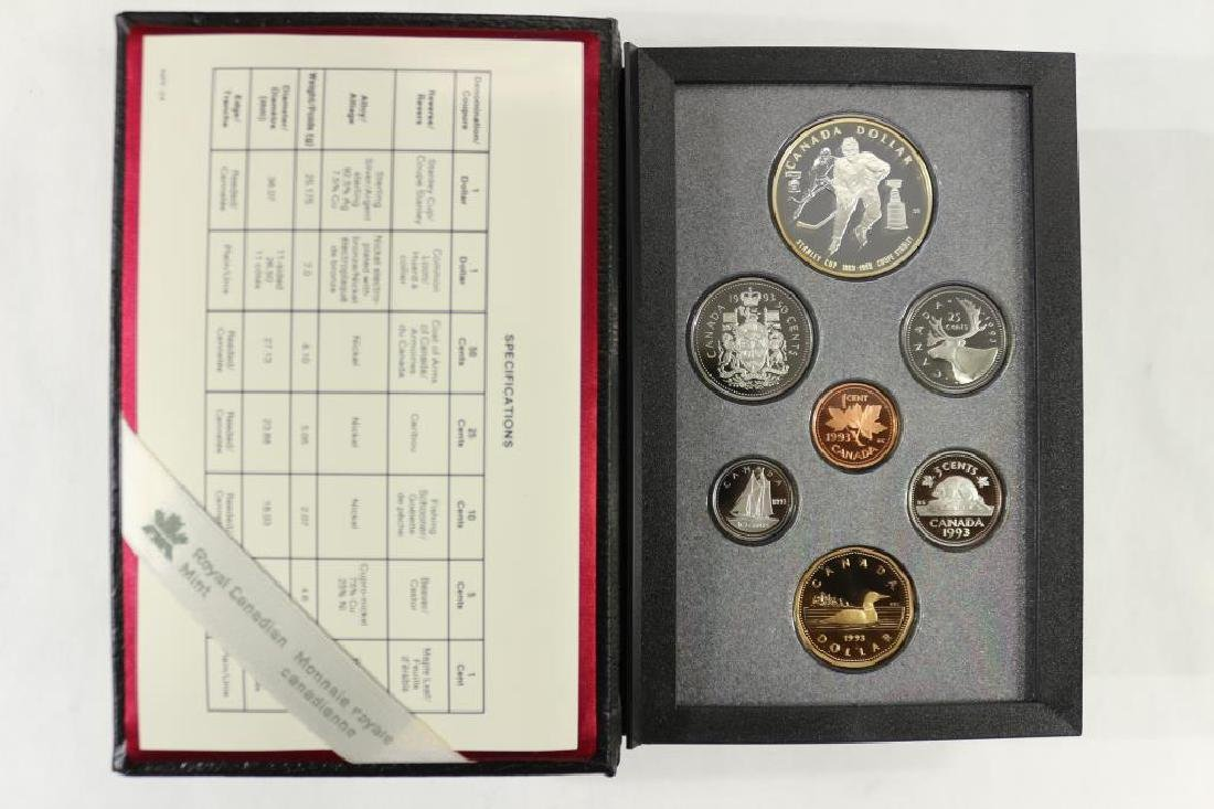 1993 CANADA DOUBLE DOLLAR PROOF SET STANLEY CUP