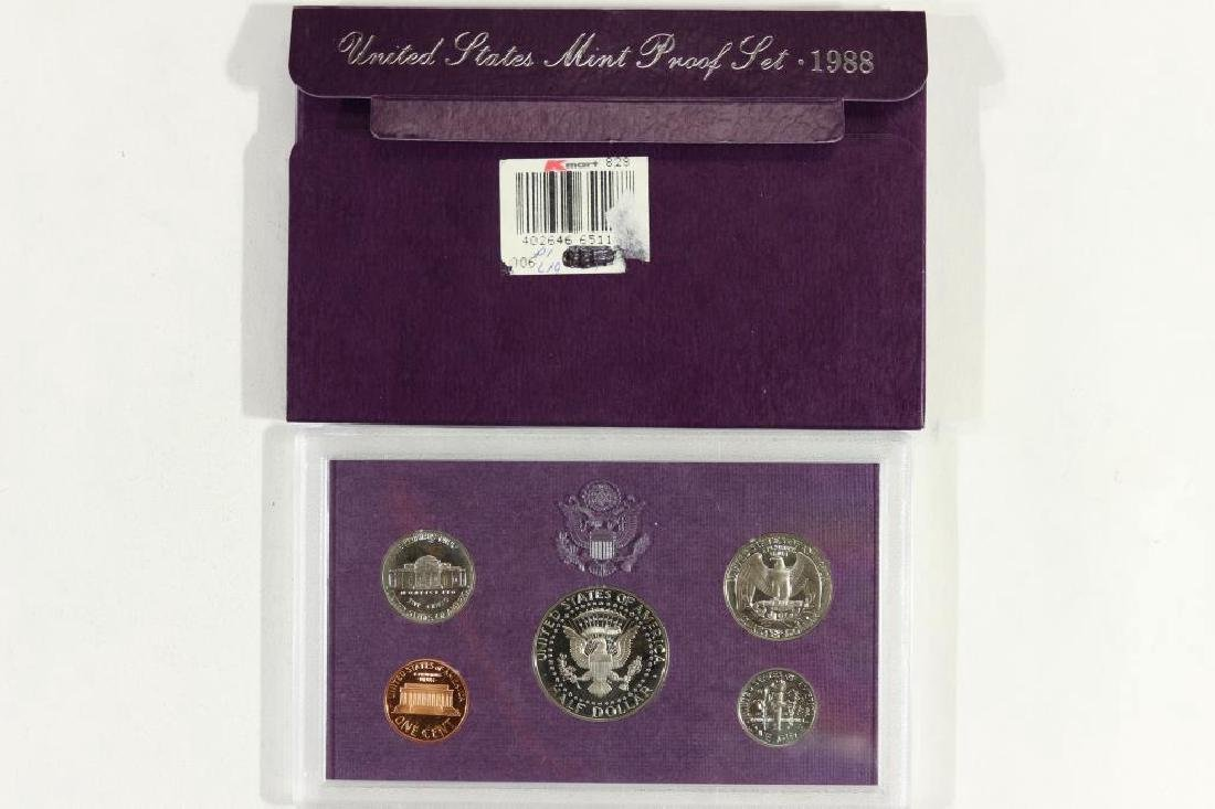 1988 US PROOF SET (WITH BOX) - 2