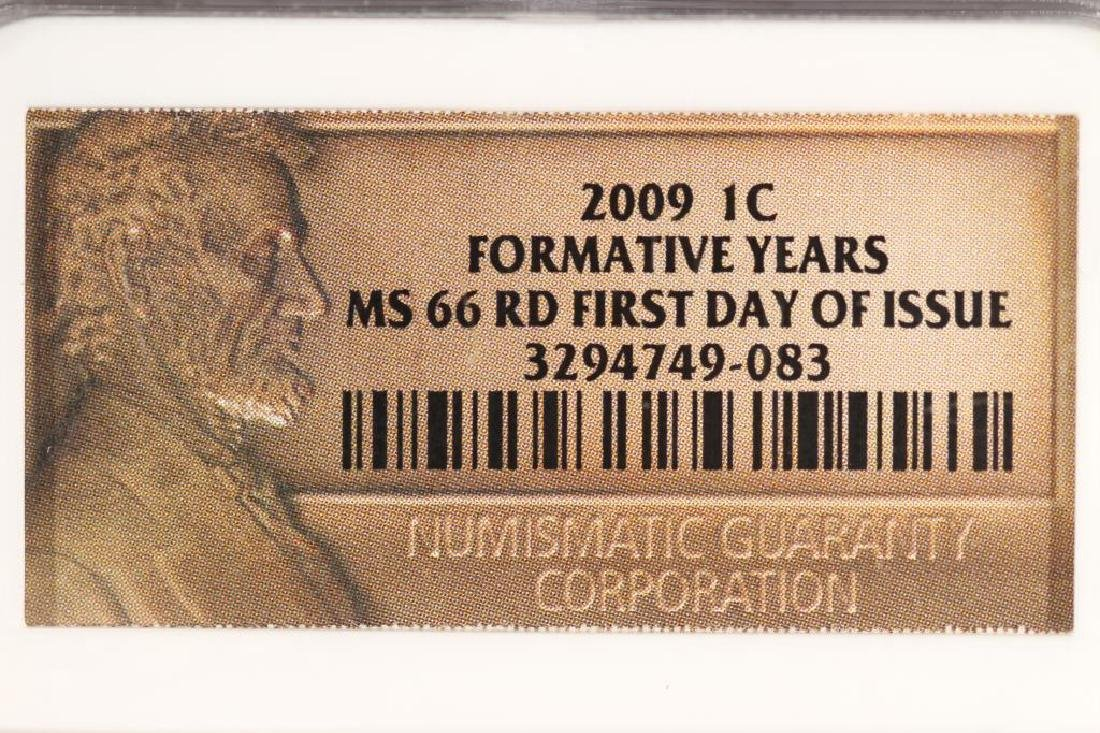 2009 FORMATIVE YEARS LINCOLN CENT NGC MS66RD - 3