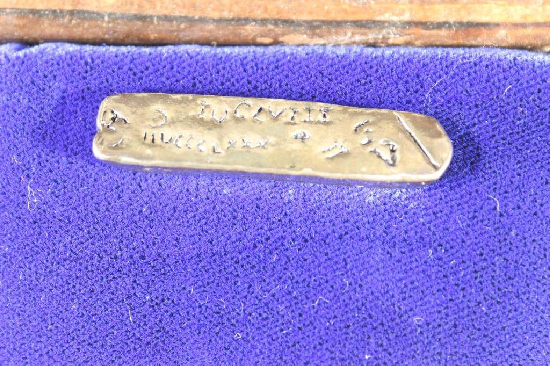 ATOCHA SILVER INGOT POURED FROM THE FAMOUS