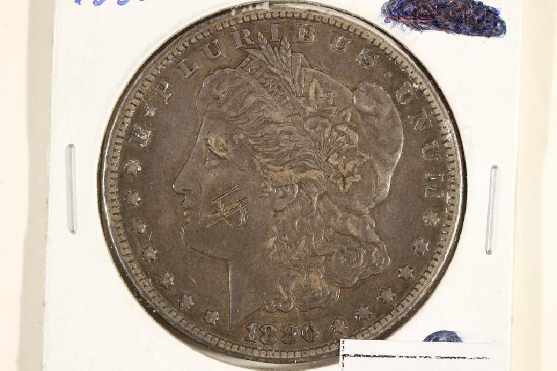 1880-CC MORGAN SILVER DOLLAR BETTER DATE SCRATCHED